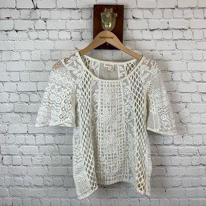 Meadow Rue Lace Crochet Top